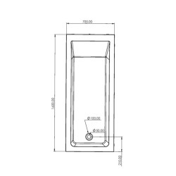 Aloni Acryl-Badewanne Weiß (TxBxH) 160 x 70 x 60 cm - V470 - 3