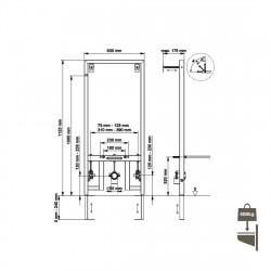Belvit Vorwandelement für Bidet - BV-VR4001 - BV-VR4001 - 1