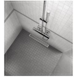 Edelstahl Duschrinne Bodenablauf Ablaufrinne Duschablauf Ablauf Fliesen 90cm - AL-DR1090 - 1