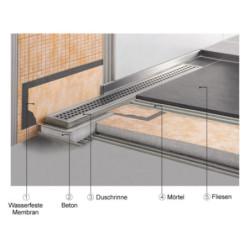 Edelstahl Duschrinne Bodenablauf Ablaufrinne Duschablauf Ablauf Fliesen 90cm - AL-DR1090 - 10