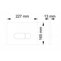 Betätigungsplatte Drückerplatte 2 Mengenspülung 2-Mengen-Spülung weiß - BV-DP1001 - 1