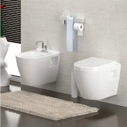 Aloni Hänge-WC mit Taharet/Bidet/Dusch-WC und Wandanschluss - AL5508 - 0