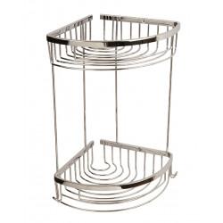 Shower tray angle double 18 x 18 cm chrome - BA21072-18 - 0