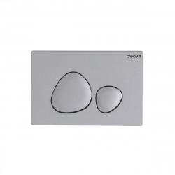 Creavit Spa WC Betätigungsplatte 2-Mengen-Spülung Chrom matt - GP7002.00 - 0