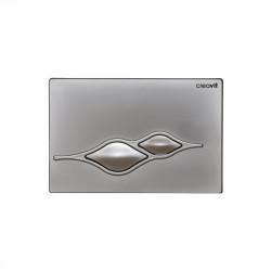 Creavit Ufo WC Betätigungsplatte 2-Mengen-Spülung Grau matt - GP1002.00 - 0