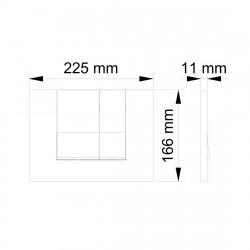 Belvit Madrid Betätigungsplatte für 2-Mengen-Spülung Matt Chrom - BV-DP2002 - 1