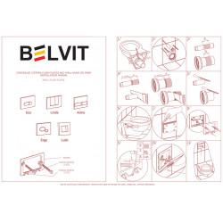 Belvit Madrid Betätigungsplatte für 2-Mengen-Spülung Matt Chrom - BV-DP2002 - 2