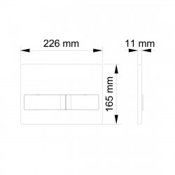 Belvit London Betätigungsplatte für 2-Mengen-Spülung Weiß - BV-DP3001 - 1