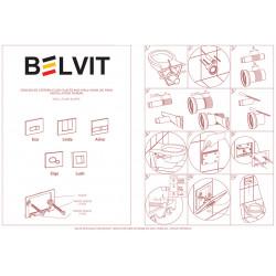 Belvit Brussel Betätigungsplatte für 2-Mengen-Spülung Glanzchrom - BV-DP4003 - 2