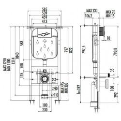 Creavit Unterputz-Spülkasten Einbau Spülung 3-6L - GR5003 - 1