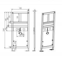 Creavit Waschtisch/Waschbecken Vorwandelement Unterputz - GLM100.01 - 1