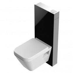 Sanitärmodul für Wand-WC Alurahmen Glasverkleidung schwarz - T03C113S - 0