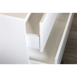 Hayat Bathroom Base cabinet 80 cm oak + washbasin - KEY3480-80 - 3