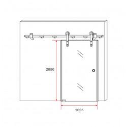 Aloni Schiebetür Milchglas 1025x2050 - CR-Y001 - 4