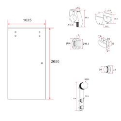 Aloni Schiebetür Milchglas 1025x2050 - CR-Y001 - 5