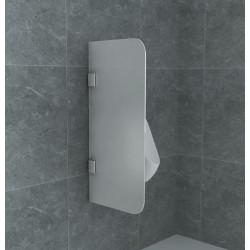 Aloni Urinal Glass Dividing Screen Shame Wall Milk Glass 8 mm (HXB) 900 x 400 mm - CR-W001 - 0