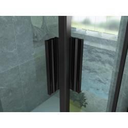 Aloni shower cubicle corner entry frame black matt (BXBxH) 800 x 800 x 1900 mm - CR-B8080 - 2