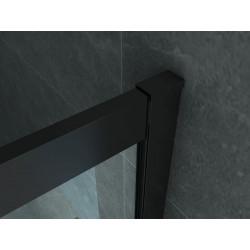 Aloni Duschkabine Eckeinstieg Rahmen Schwarz Matt 80x80x190 - CR-B8080 - 3
