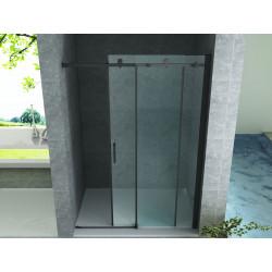 Aloni niche door sliding door black matt 8 mm (BXH) 1400 x 2000 mm - CR-045A14 - 0
