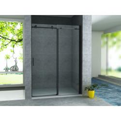 Aloni niche door sliding door black matt 8 mm (BXH) 1400 x 2000 mm - CR-045A14 - 1