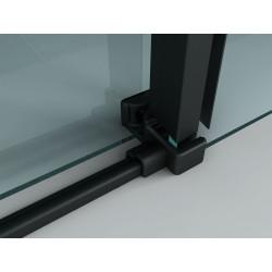 Aloni niche door sliding door black matt 8 mm (BXH) 1400 x 2000 mm - CR-045A14 - 2