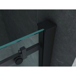 Aloni niche door sliding door black matt 8 mm (BXH) 1400 x 2000 mm - CR-045A14 - 3