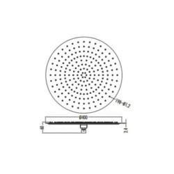 Aloni Regendusche Kopfbrause rund Schwarz matt Ø 40 cm - SH3040B - 1
