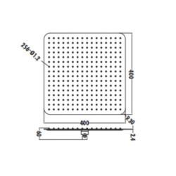 Aloni Regendusche Kopfbrause Quadrat Schwarz matt 40 x 40 cm - SH4000B - 1