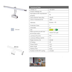 Aloni Mirror LED Lighting 8W 4200K LED 100-250V - PML-13 - 1