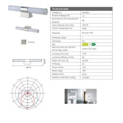 Aloni Mirror LED Lighting 12W 85-265V 4200K LED - PML-11 - 4