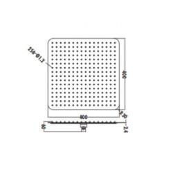 Aloni rain shower head shower Square 40 x 40 cm chrome - SH4000 - 1