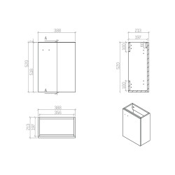 Aloni Elanor bathroom furniture complete set white - MF-40LBYZ - 2