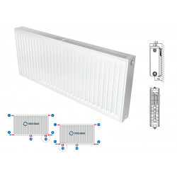 Belrad Type 22 Universal radiator valve radiators Center connection with 8 connections 400 x 1200 (HXB) -1494W - M224001200 - 0