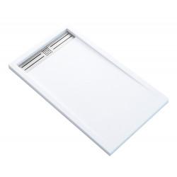 Veroni Elite Duschtasse Kompositstein flach (TxBxH) 120 x 80 x 3 cm Weiß - SE812W - 0