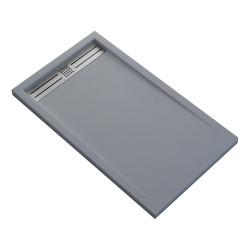 Veroni Elite shower handle composite stone flat (TXBXH) 180 x 90 x 3 cm gray - SE918G - 0