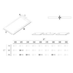 Veroni Elite shower handle composite stone flat (TXBXH) 180 x 90 x 3 cm gray - SE918G - 1