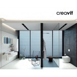 Veroni shower tray made of composite stone with slate pattern flat (TXBXH) 160 x 90 x 3 cm black - SL916Z - 2