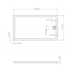Duschtasse Acryl 160x90 - SW-40407 - 3