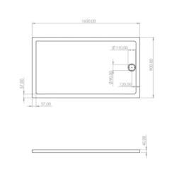 Shower cup acrylic 160x90x4 cm - SW-40407 - 3