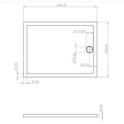 Duschtasse Acryl 120x90 - SW-40403 - 3