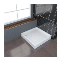 Aloni shower tray shower tray square (BXBxH) 90 x 90 x 18 cm white - TK815 - 0