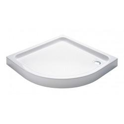Aloni shower tray acrylic quarter circle (BXBxH) 80 x 80 x 15 cm white - TO813 - 3