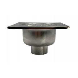 Bodenablauf Edelstahl 150x150mm Hofablauf Duschrinne Terrasse Badablauf DN 50 - YS.FS156A - 0