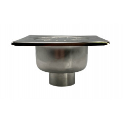 Floor drain stainless steel 150x150mm yard terrace shower bathroom drain DN 50 - YS.FS156A - 0