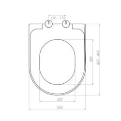 Aloni toilet design seat Soft Close toilet seat Duroplast white - AL0336 - 1