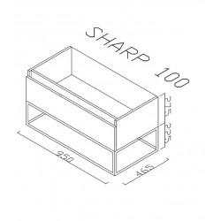 Sharp Badezimmer Unterschrank 100 cm - SHP100.07 - 2