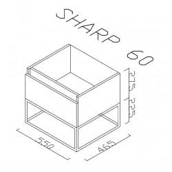 Sharp Badezimmer Unterschrank 60 cm - SHP060.07 - 2