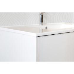 Hayat Unterschrank 80cm Weiß glänzend + Waschbecken - KEY2428-80 - 2
