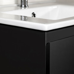 Sally bathroom base cabinet 120cm black matt - SLY120.06A - 2