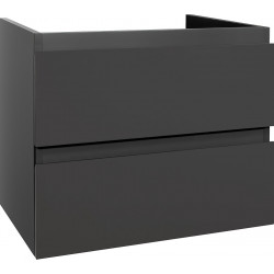 Sally Badezimmer Unterschrank 60 cm Grau hochglanz - SLY060.03A - 0